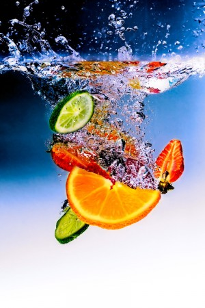 You SHOULD be getting a lot of water from fruits and vegetables!